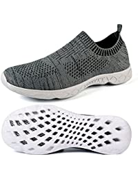 Mxson Men's Slip On Sneaker Mesh Casual Sports Walking Beach Aqua Swimming Pool Water Shoes