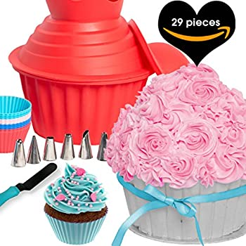 Amazon Gourmet Trends Giant Cupcake Silicone Mold Kitchen Dining