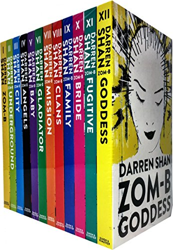 Zom-B 12 Books Collection Set Pack By Darren Shan (Zom-B, Underground, City, Angles, Baby, Gladiator, Mission, Clans, Family, Bridge, Fugitive, Goddess) (Zom B Book 1-12)