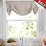 jinchan Linen Curtains 2 Panels