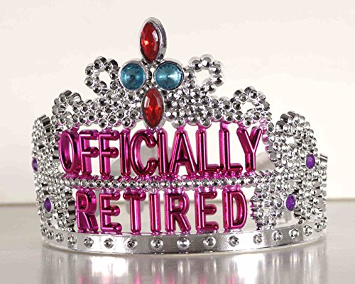 Forum Novelties Officially Retired Retirement Party Tiara -