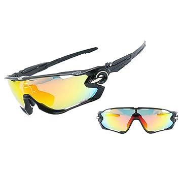 ANLW Gafas de Sol de Deportes polarizados con 4 Lentes ...