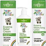 Natralia Happy Little Bodies, Eczema Care Regimen with Itch Relief Cream, Skin Wash, and Lotion