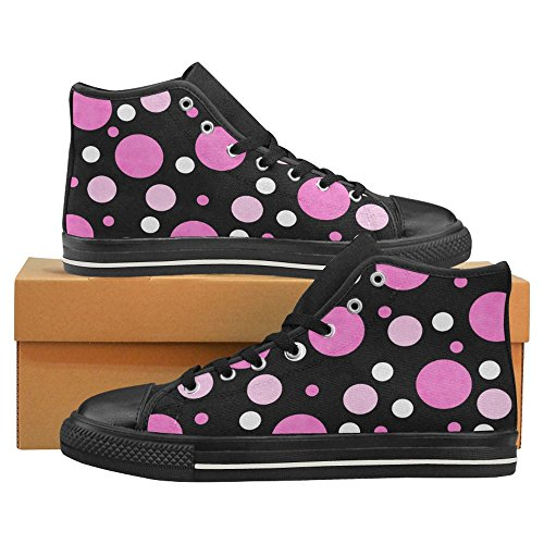 InterestPrint Womens High Top Classic Casual Canvas Fashion Shoes Trainers Lace Up Sneakers Polka Dot YIFbSwY6