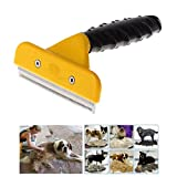 Greenery Safe Sanitary Pet Grooming Comb Brush Trimmer Shaver Clipper Shedding Demanting Tool for Small, Medium &Large Dogs + Cats with Short to Long Hair (L- Cutting head 4'')
