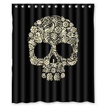 Custom Sugar Skull Mexican Shower Curtain 60