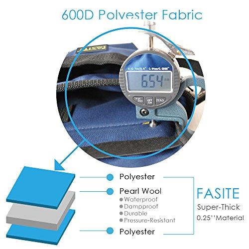 FASITE PTN012 32-POCKET Electrical Maintenance Tool Pouch Bag Technician's Tool Holder Work Organizer Framer's Tool Belt, Blue by FASITE (Image #1)