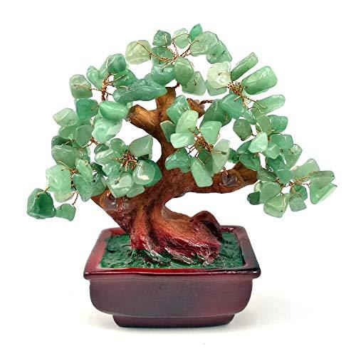 - NYKKOLA Mix Gem Stone Money Amethyst Rose Citrine Carnelian Clear Quartz Feng Shui Plants & Flowers Artificial Trees Green