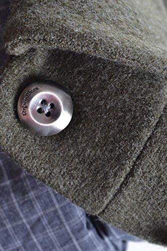 Refrigiwear Damen MCBI254006O Grün Wolle Mantel