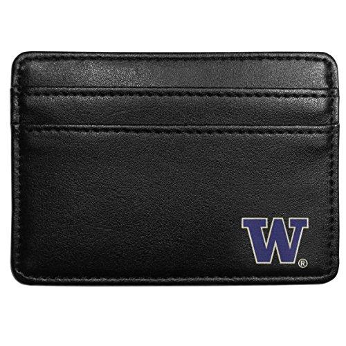 (Siskiyou NCAA Washington Huskies Weekend Wallet, Black)