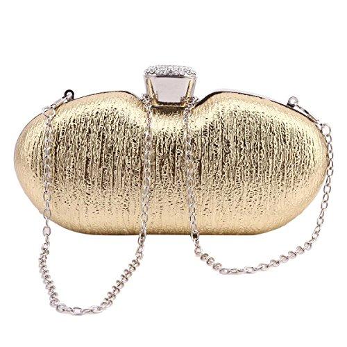Damara Metalic Bag Hardcase Shape Womens Special Silver Evening wqrwP