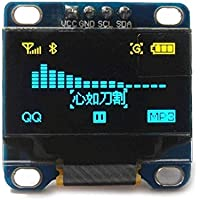 Balance world Inc 0.96 Inch Yellow and Blue I2c IIC Serial 128x64 Oled LCD Oled LED Module for Arduino Display 51 Msp420 Stim32 SCR