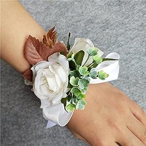 WeddingBobDIY Artificial Rose Flower Bride Wrist Corsage Women Wedding Hand Flowers Accessories Decoration 92