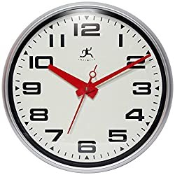 Infinity Instruments 14097SV-3282 Lexington Avenue Wall Clock