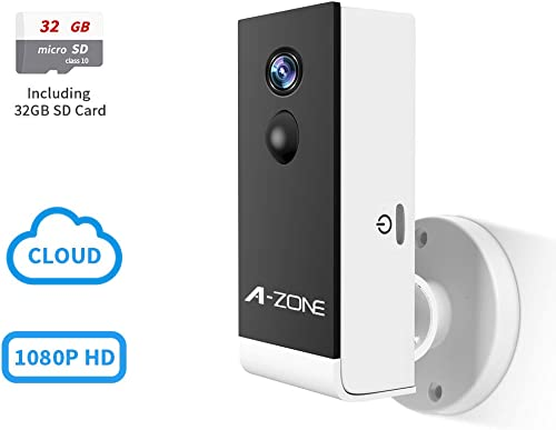 Wireless Rechargeable Battery Powered WiFi Camera, Home Security Camera, Night Vision, 1080P Video with Motion Detection, 2-Way Audio, Waterproof, compatible with Cloud Storage, Including 32GB SD Card