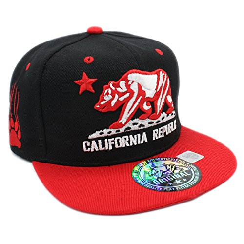 Embroidered CALIFORNIA REPUBLIC with BEAR CLAW SCRATCH for sale  Delivered anywhere in USA