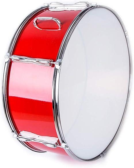 Tambor de trampa rojo de instrumentos de percusión Equipo 22 pulgadas Banda de acero inoxidable: Amazon.es: Instrumentos musicales