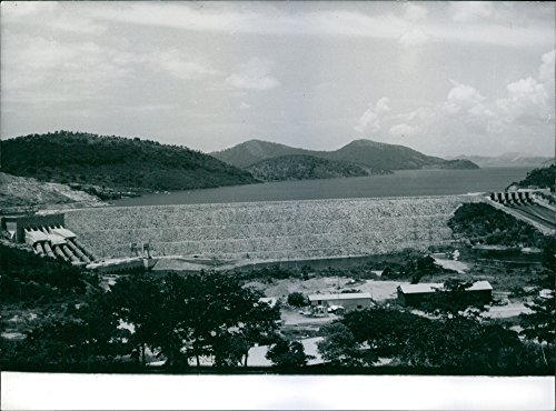 Vintage photo of The Volta Dam one of China39;s most ambitious projects- the Volta Dam, situated on the Volta River. It will provide hydro-electricity for China39;s new industries, - Electricity Dam