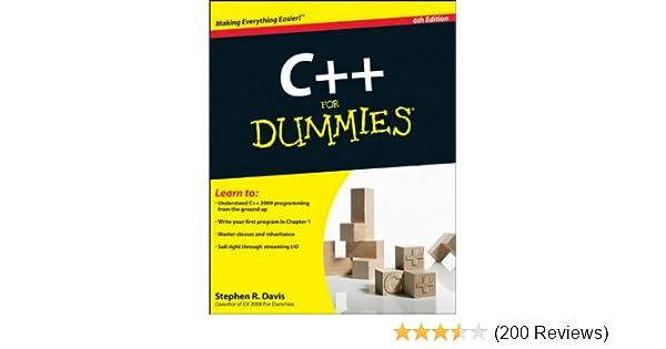 Amazon com: C++ For Dummies (9780470317266): Stephen R