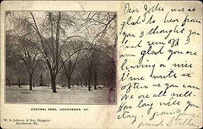Central Park Henderson, Kentucky Original Vintage Postcard
