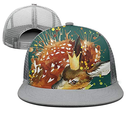 (Fit Good Whitetail Deer Laying Trucker Hat Unisex Sports Cap)