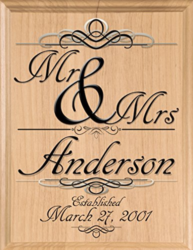 Broad Bay Wedding Gift Sign Personalized Family Name Established Plaque Customized for Newlywed Couple EST. -