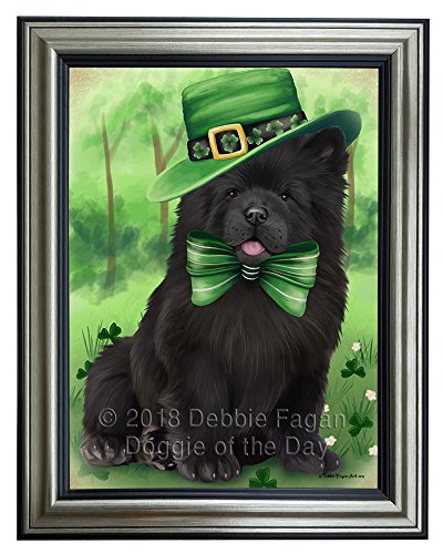 Doggie of the Day St. Patricks Day Irish Portrait Chow Chow Dog