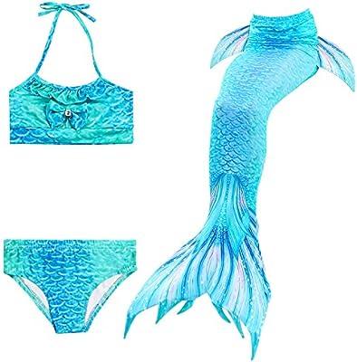 Skitic Coda Sirena Ragazze Bambina Costume da Bagno Mermaid Tail Sirena  Shell Bikini per Il Nuoto Nuotare Cosplay Costumi da Bagno - XXL 7d5a253ca81b