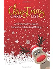 Christmas Card List: A Six-Year Address Book & Tracker for Holiday Card Mailings