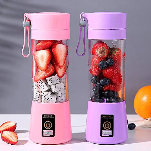 Kiminors Low Power Consumption Portable Mini Juice Extractor Portable Battery USB Charging Juicer Cup