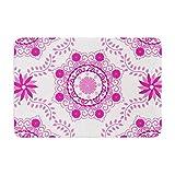 KESS InHouse AS1012BBM02 Bath Mat Anneline Sophia ''Let's Dance Fuschia'' Pink Floral Memory Foam Bath Mat, 24'' X 36'',,