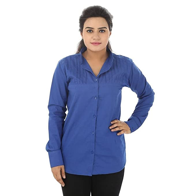 019fe0442ce58c Teemoods Women s Cotton Full Sleeves Shirt