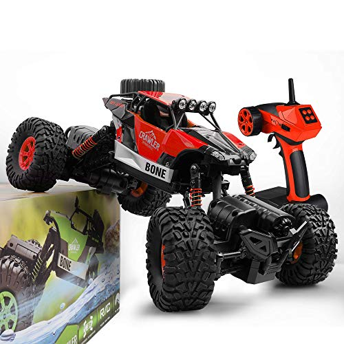 Gizmovine RC Car 4WD 1/16 Rock Crawler Climber Off Road Vehicle 2.4Ghz Toy Remote Control Car Electronic Monster Truck R/C for Kids and Adults (Red)