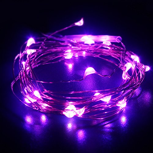 Hogoo Bottle Cork String Lights 3M/10ft for Bottle DIY, Party, Christmas, Halloween and Wedding Decor, Purple(Battery include) Pack of 3