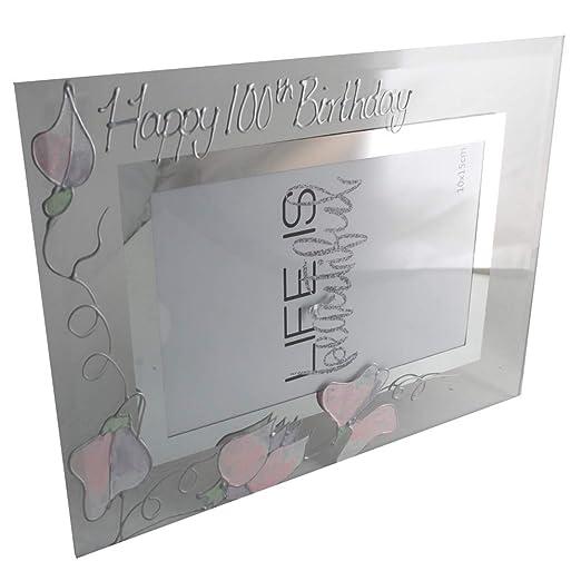Amazon.com: 100º cumpleaños regalo marco guisante de olor ...