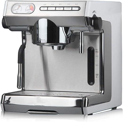 HCUICN Cafetera Cafetera Semiautomática Comercial, Profesional Italiana Mini, Plateada: Amazon.es: Hogar
