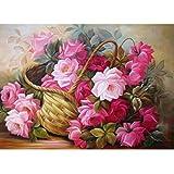Diamond Painting,Saingace 5D DIY Diamond Flower Embroidery Cross Stitch Crafts Home Decor (G)