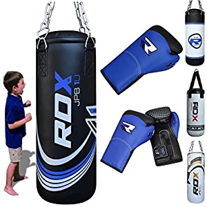 RDX Kids Heavy Boxing 2FT Punch Bag UNFILLED MMA Punching Training Gloves KickBoxing