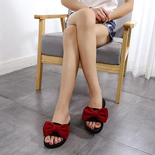 Arc D'été Chaussures Occasionnels Flip Rouge 39eu Sandales Femmes Culater® Plage Slipper De Cn Flop 40 Pantoufles Rouge 5qxt4UxH
