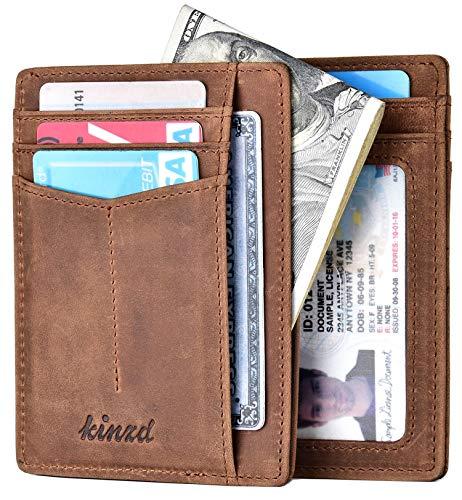 - Slim Wallet RFID Front Pocket Wallet Minimalist Secure Thin Credit Card Holder