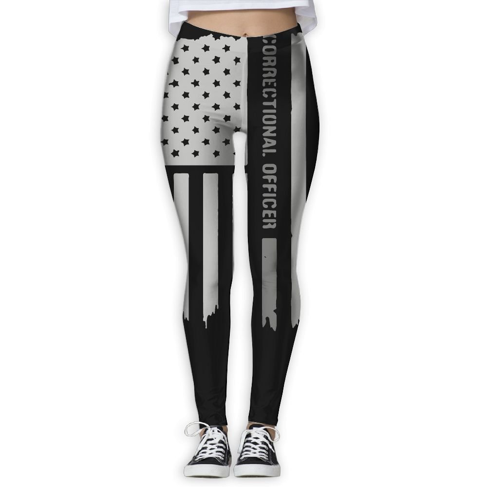 DDCYOGA Thin Silver Line Correctional Officer Women's Power Flex Yoga Leggings Dance Athletic Sport Leggings For Girls