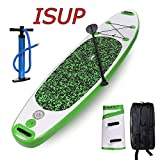 Ncient Inflatable Stand Up Paddle Board, Stable Deck, Wide Stance, Non-Slip Surface. Adjustable Paddle, Pump and Backpack & SUP Accessories