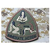 Mil-Spec Monkey IMMEDIATE ACTION morale patch hook backing Army Green tap rack bang