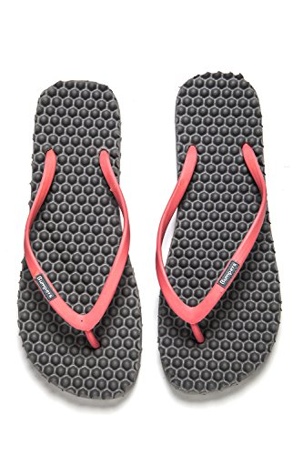 Flip Friendly Anti Pink amp; Grey flat Women Massage Flops Comfort Young and Sandals Fit Eco for Slim Bumpers Slipping vwp5RqAPA