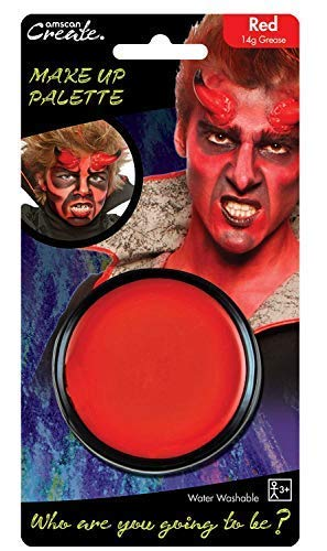 Ladies Mens Boys Girls Red Face Paint Halloween Devil Horror Blood Fancy Dress Costume Outfit Make Up Accessory ... -