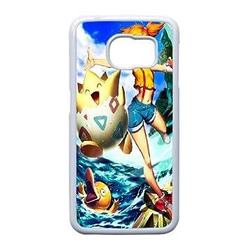 JiHuaiGu (TM) Samsung Galaxy S6 Edge funda Blanco Pokemon Pikachu ...