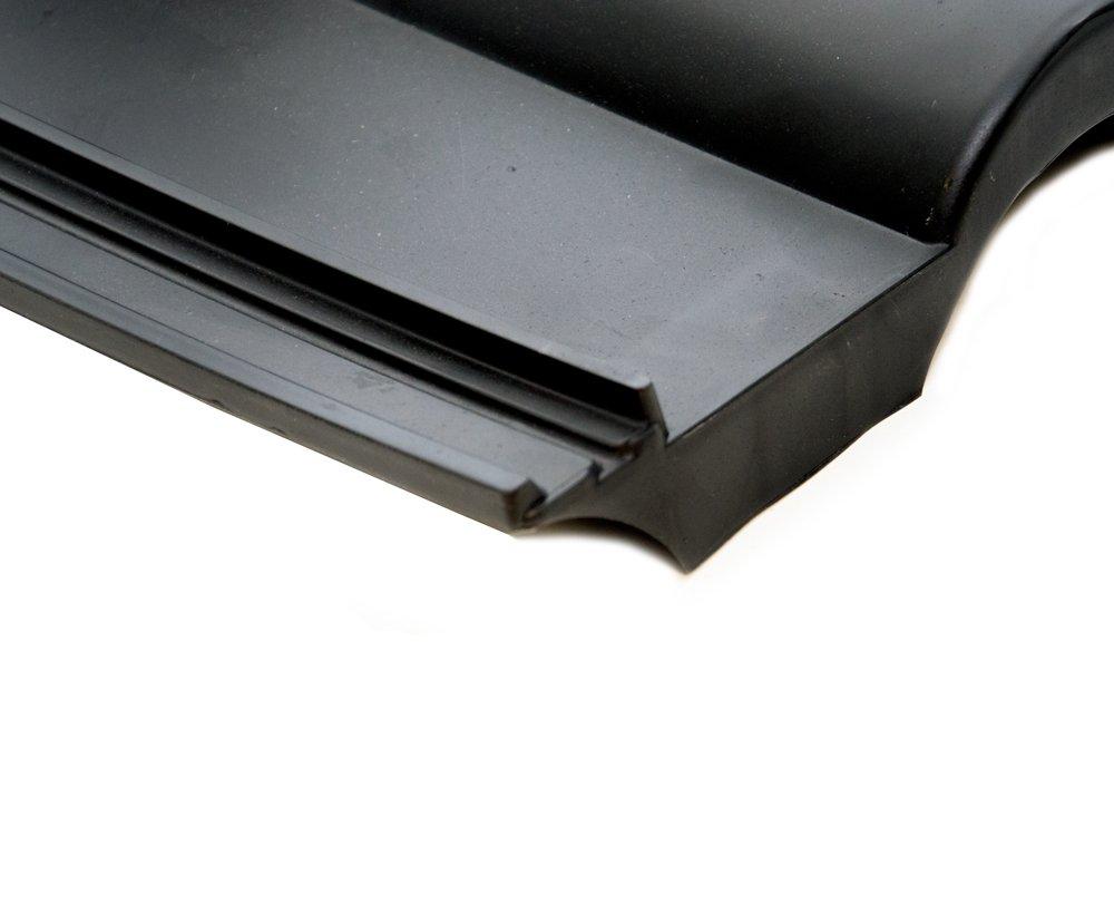 Teja de Frankfurt Negro teja techo protectora teja de pl/ástico PVC