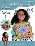 Four Face Pillow Craft Kids Sewing Kit, Offers Hours of Fun for Boys and Girls, Emoji, Sew and Stuff Kit,Includes all Supplies, Fun Activity, Ages 5-12, Ideal Indoor Activity by Zoey's Art