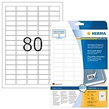 Herma 10003 - Pack de 2000 etiquetas, 35.6 x 16.9 mm, color blanco
