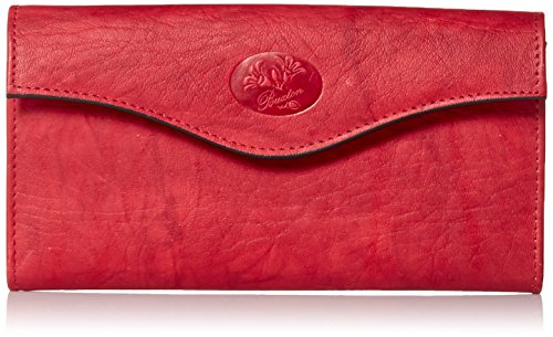 Buxton Heiress Organizer Clutch, Red, One Size
